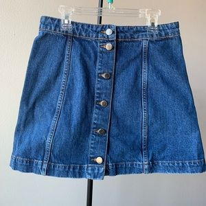 Denim mini skirt_Top Shop 🐋👗
